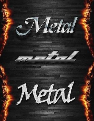 "Thumbnail for 10 Photoshop Styles ""METAL MIX"""