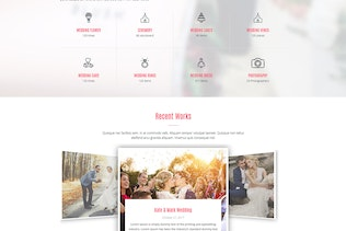 Thumbnail for Wedding - All in One WordPress Theme