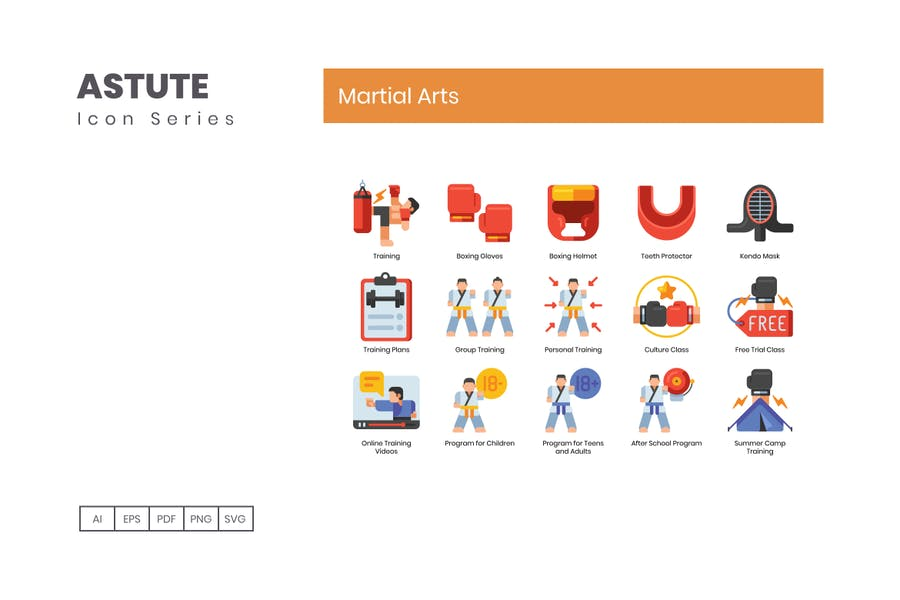 70 Martial Arts Icons | Astute Series - product preview 4