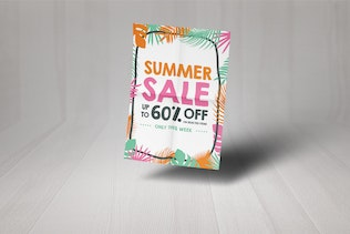 Thumbnail for Palm Leaves Summer Sale Poster And Flyer