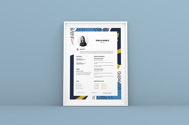 Creative Resume CV Design Template - product preview 3