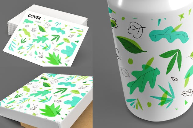 leaf graphic element - product preview 1