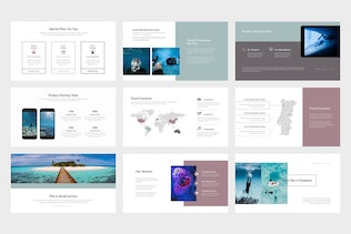 Poreo : Underwater Travel Business Google Slides