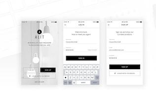 Thumbnail for Alit - Minimalist eCommerce PSD UI for iOS App