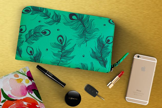 Makeup Pouch Mockup - product preview 2
