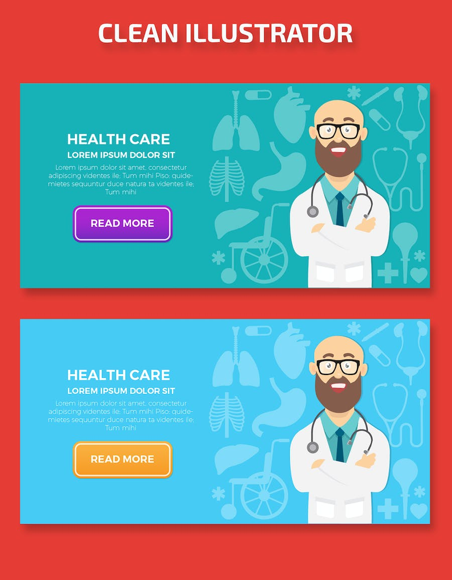 Health Care Banners Design - product preview 1
