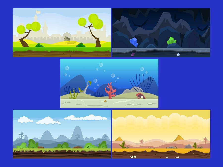 10 Fresh Game Backgrounds - product preview 1