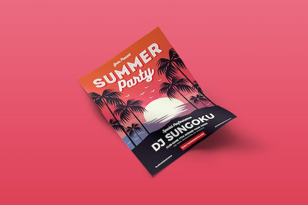Summer Party Flyer Template Vol. 01 - product preview 3