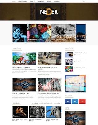 Thumbnail for Neder - WordPress News Magazine and Blog Theme
