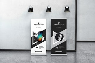 Roll Up Banner Stand Mockup