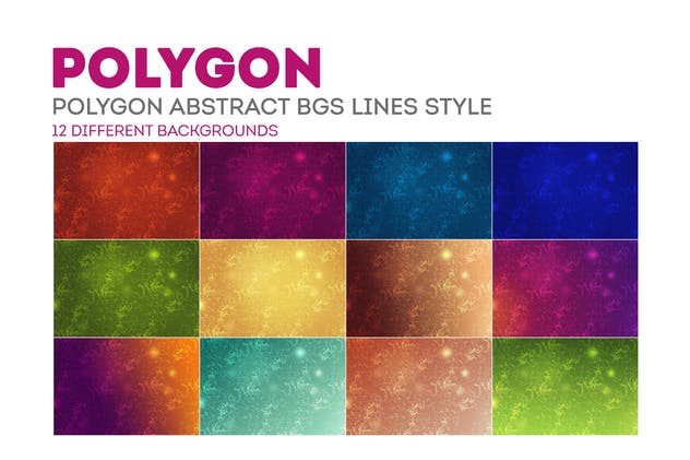 Polygon Abstract Backgrounds Lines Style - product preview 6