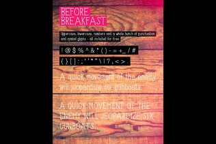 Thumbnail for Before Breakfast font