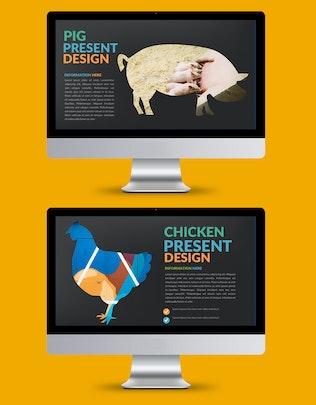 Шаблон презентации Keynote Hippo