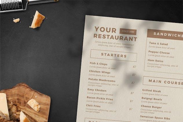 Vintage Food Menu - product preview 2