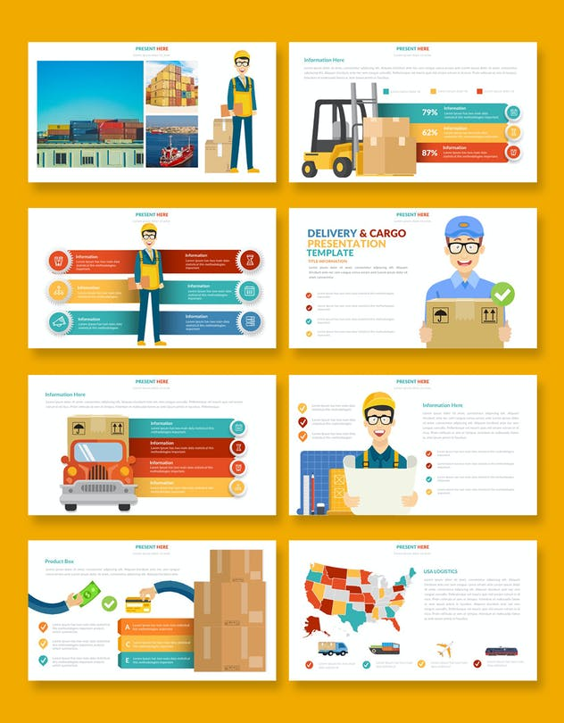 Logistic Infographic Powerpoint - product preview 2