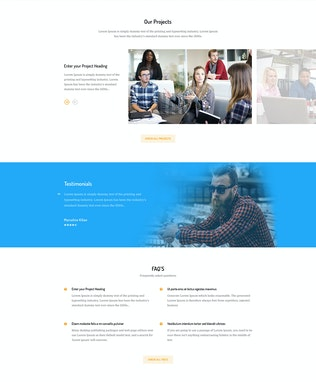 Thumbnail for Business Consulting Agency PSD Template