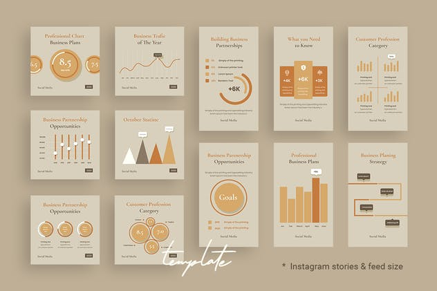 Charts & Graphs Instagram Templates for Finance V1