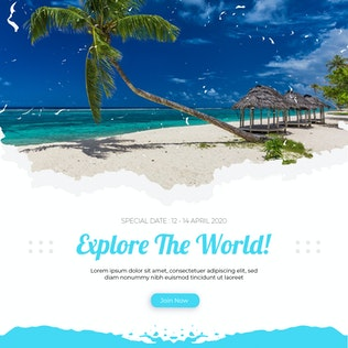 Thumbnail for Travel Social Media Post Template