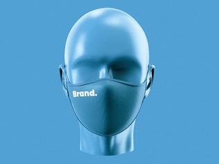 Thumbnail for Face Mask Mockup Template