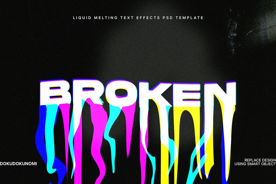 Liquid Melting Text Effects v01