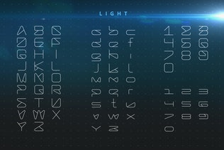 Thumbnail for LineTech futuristic technology font