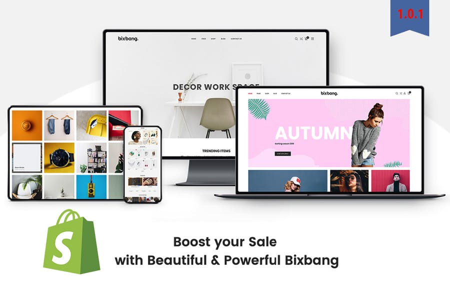 Bixbang | Minimalist eCommerce Shopify Template - product preview 1