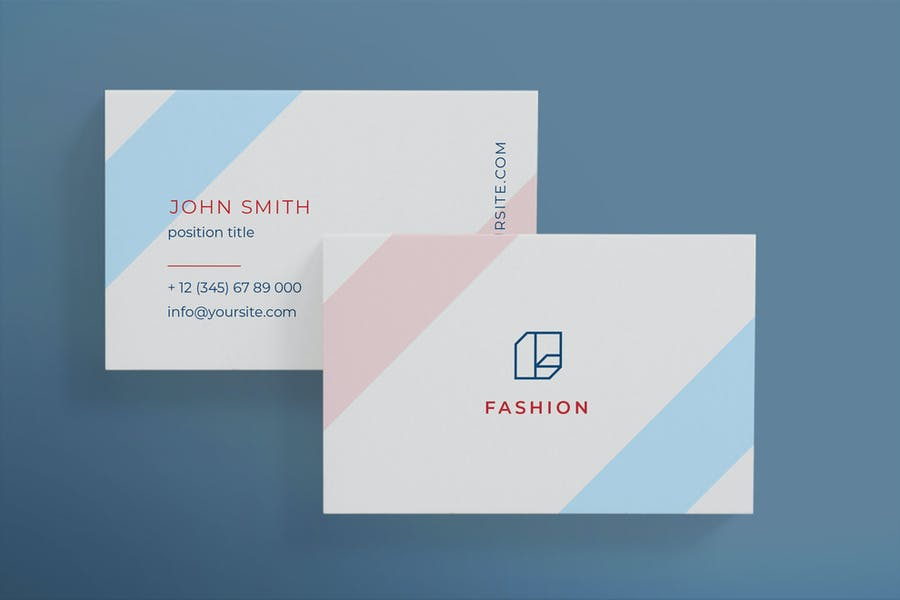 Fashion shop business card template