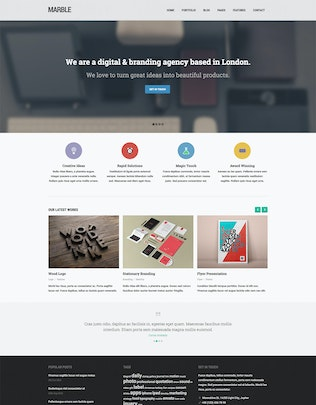 Thumbnail for Marble - Flat Responsive HTML5 Template