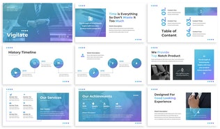 Thumbnail for Vigilate - Commerce Google Slides Template
