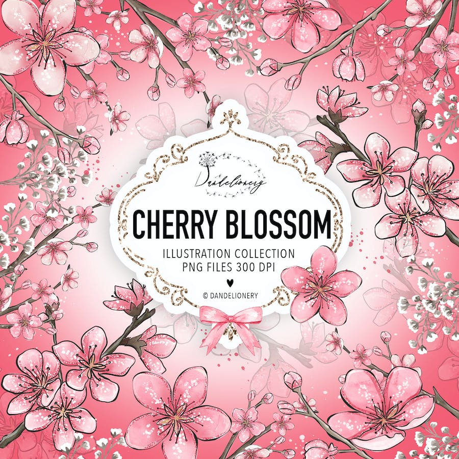 Cherry Blossom design - product preview 3