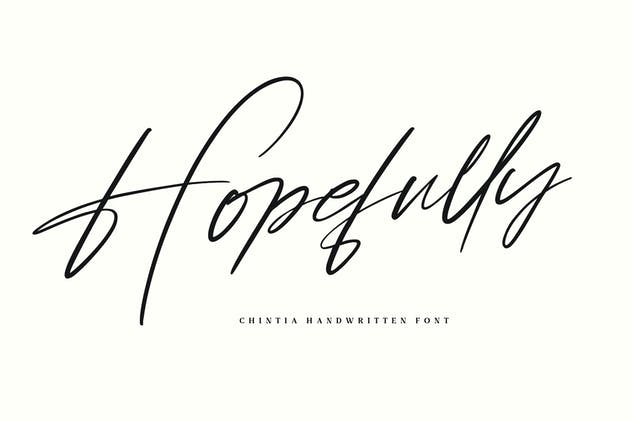 Chintia Slanted Script Brush Handmade Beauty Font - product preview 4