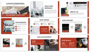 Thumbnail for Luxata - Biz Google Slides Presentation Template