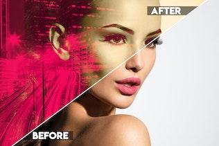 Миниатюра для Цветная двойная экспозиция Photoshop действие