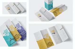 Thumbnail für A5 Bi-Fold Broschüre Mock-Up Set