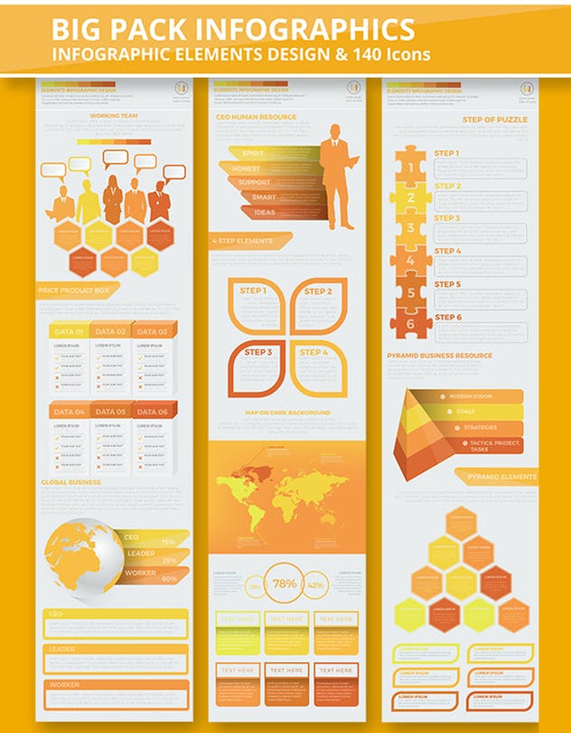 Yellow Infographics - product preview 3
