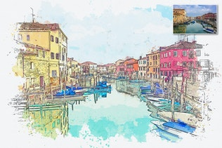 Thumbnail for Urban Sketch Photoshop Action