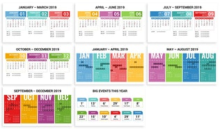 Thumbnail for 2019 Calendar Powerpoint Template