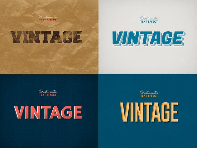 Vintage Retro Text Effects Col 8 - product preview 3