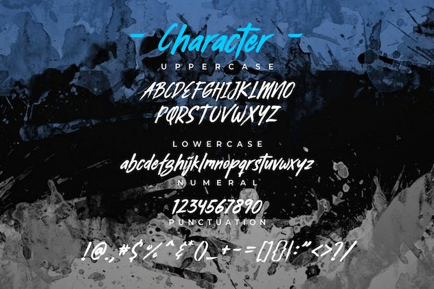 Busther - Handbrush Typeface - product preview 4