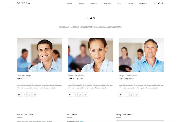 Sinera - Creative Adobe Muse Template - product preview 0