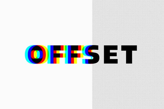 Anaglyphic Stereo Text Effect