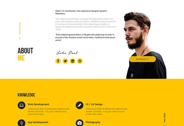 JONK - CV Resume Personal Muse Template YR - product preview 1