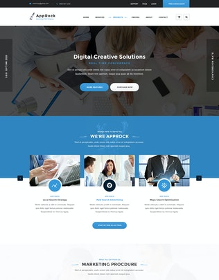 Thumbnail for AppRock - Clean Business PSD Template