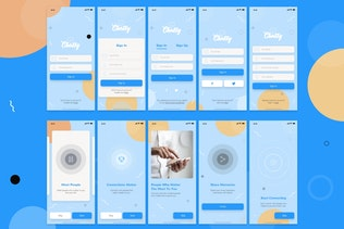 Thumbnail for Chatty Mobile UI Kit