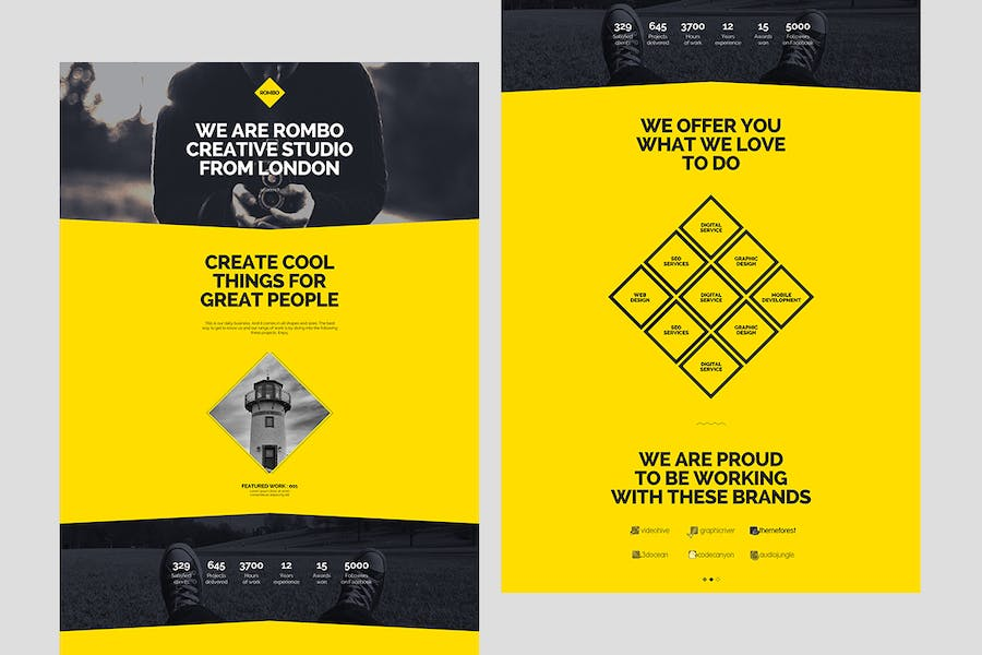Rombo - Creative Multipurpose Portfolio template - product preview 1
