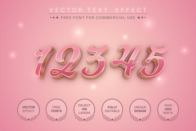 Woman's day - editable text effect for illustrator - product preview 1