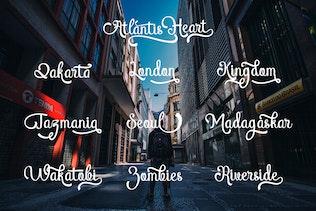 Thumbnail for Atlantis Heart Font