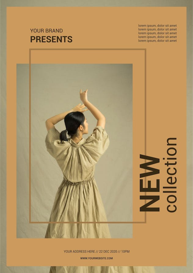 Fashion New Collection - A3 Poster Template - product preview 1