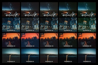 Thumbnail for 20 Blue Nights Lightroom Presets and LUTs