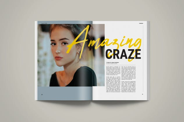 Magazine Template | Petrichor - product preview 9